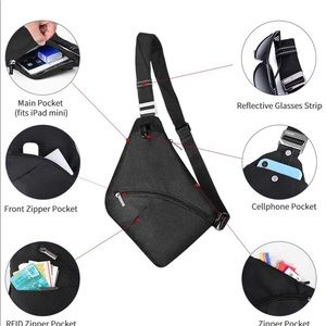 Other - Crossbody Bag for Men Anti-Theft Travel Chest Bag